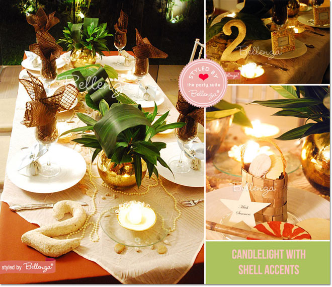 Sandy hues meet verdant touches in an elegant tablescape.