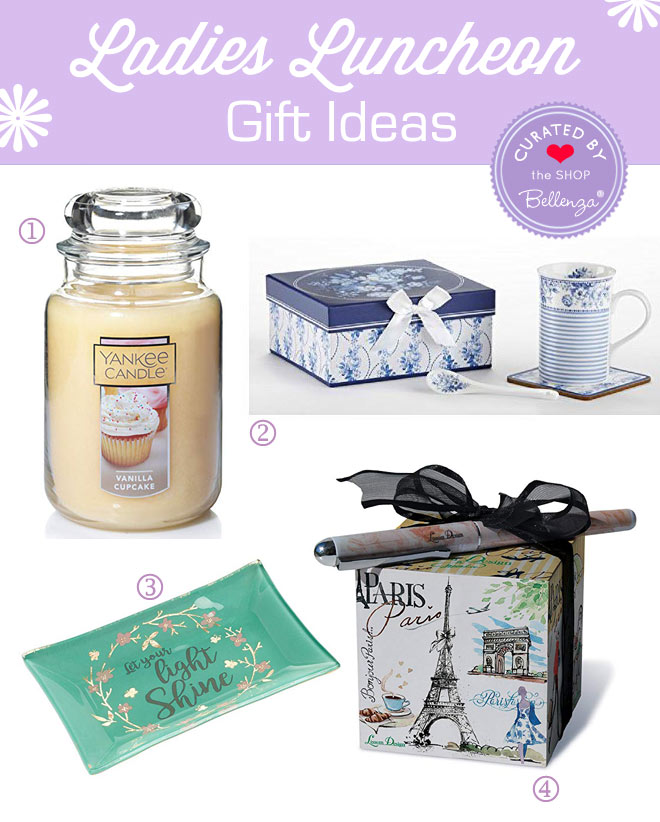 Ladies Luncheon Gift Ideas from Candles to Trinket Dishes.