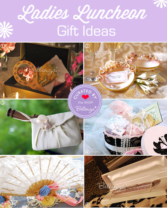 Women's Luncheon Gift Ideas from Hand Mirrors to Pens.