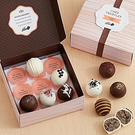 Cake truffles via Shari's Berries