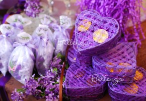 Heart-shaped Soap Purple Favor Boxes (Charisse)