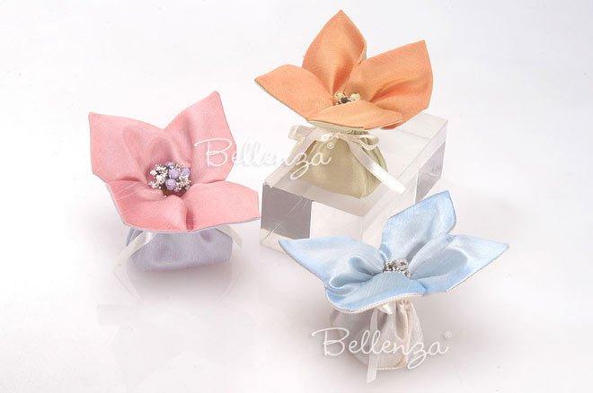 soap silk favor bags in pastel