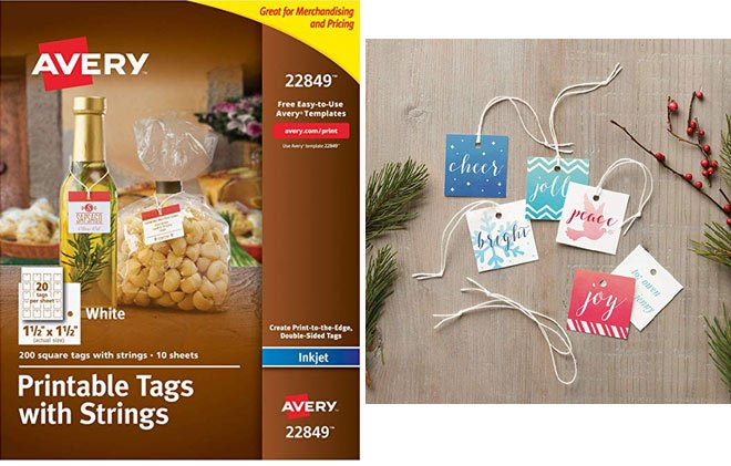 Avery Printable Tags and Strings (22849) via Amazon