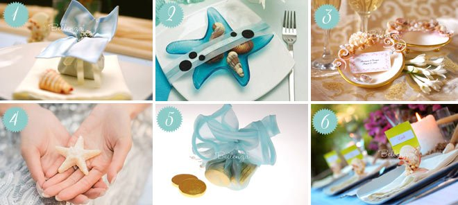 Seashell-inspired Wedding Anniversary Favors to Give Guests