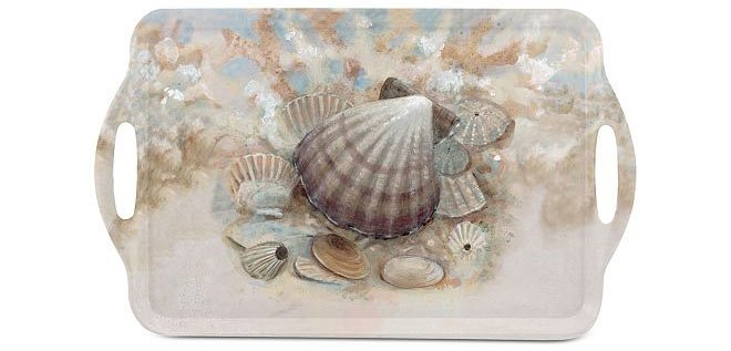 Melamine seashell themed serving tray