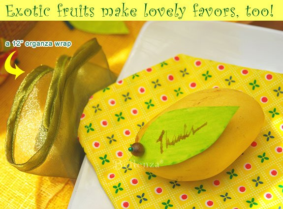 Tropical mangoes as favors