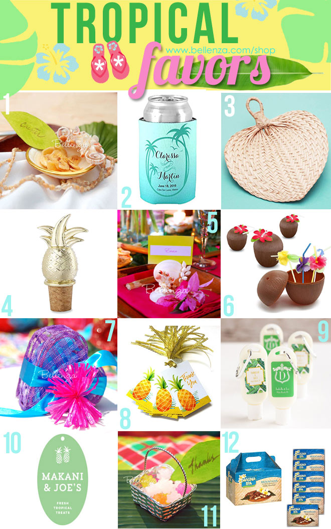 Tropical Favor Ideas to Fit Every Budget