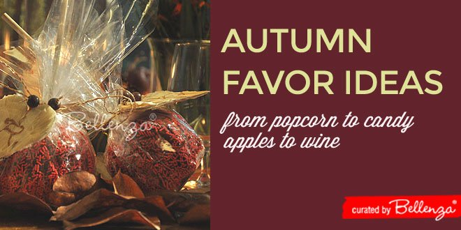 Autumn favors for weddings