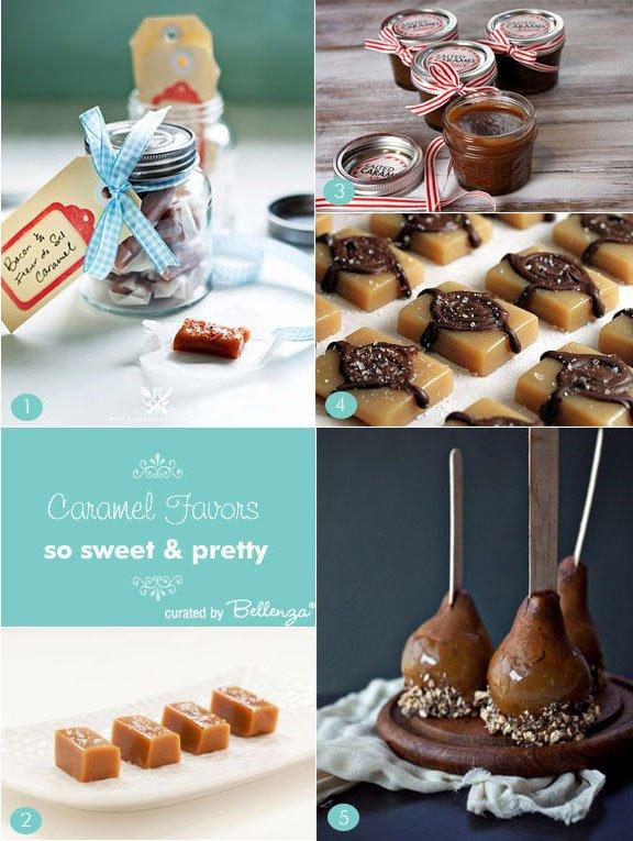 Caramel flavored wedding favors