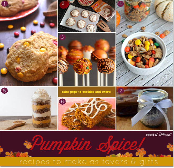 Pumpkin spice favors