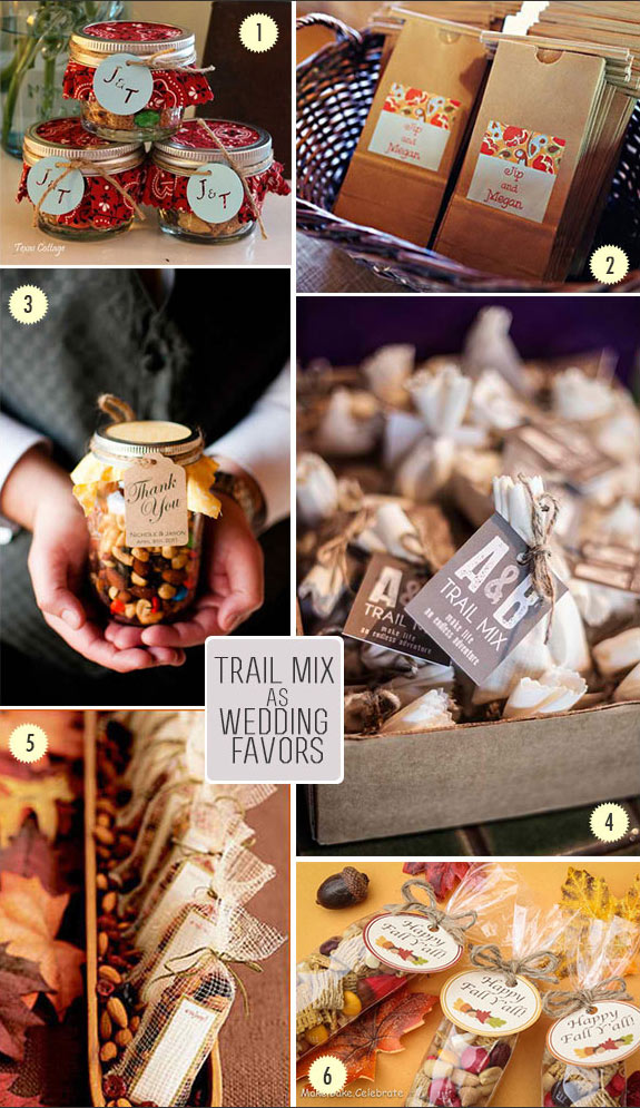 Trail mix favor packaging ides