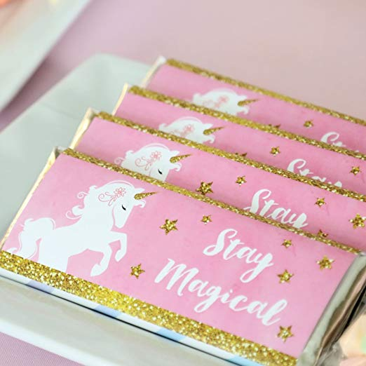 Unicorn chocolate bar wrappers
