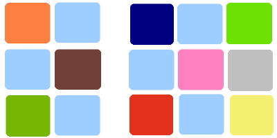 Baby blue color palette