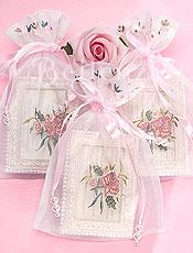 Embroidered favor bag