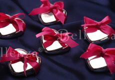 Ribbon wrapped paperweights