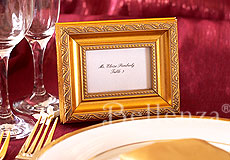 Place cards presented in frames