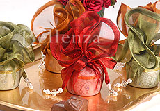 adorn the display with rich earthy colors