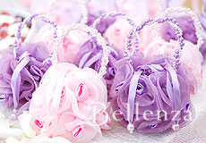 Sachet bags in pink and lilac