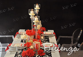 Modern and Chic Valentine's table