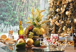 Christmas table decor with modern and organic look