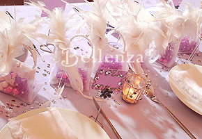 Engagement Party Centerpieces Aglow with Elegant Candles