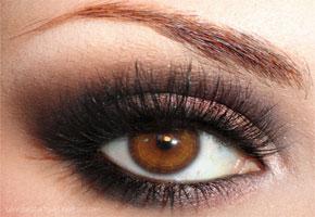 Brown eyeshadow