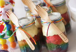 Cake jar favors that you diy