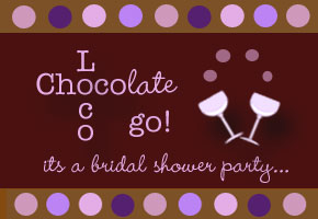 Chocolate brown wedding shower