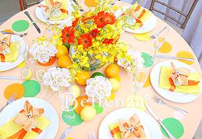 Citrus orange wedding table