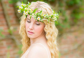 Floral Headpiece for Garden Bride