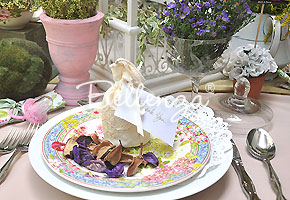 Garden-inspired place setting