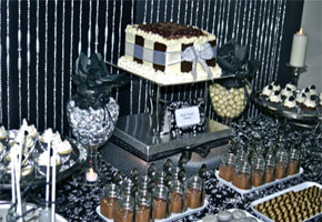 A Black, White and Silver Party: by The Inspired Occasion