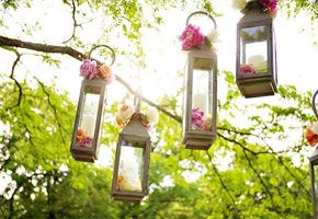 So Dazzling and Lovely: Lanterns for a Summer Wedding
