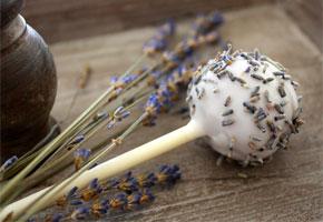 Lavender cake pops