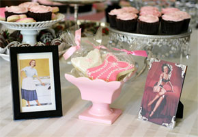 Lingerie themed bridal shower from Glorious Treats