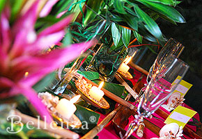 Luau table setting