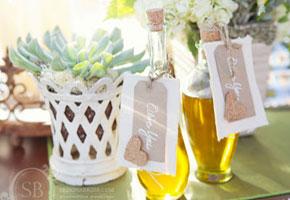 Olive oil favor bottles