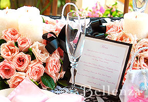 Table setting for Parisian bridal shower