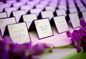 Plum place cards