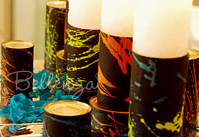 Turn Recycled Tin Cans into Cool Candle Holders