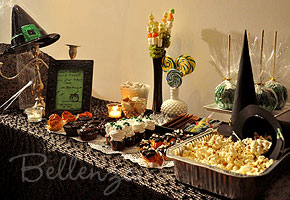 Halloween Candy Table for Bridal Shower