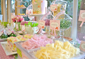 Spring bridal shower tea party