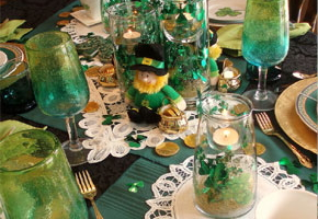 St. Patrick's Day Tablescapes
