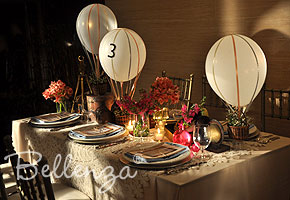 Travel-themed Wedding Table