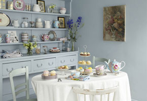 Vintage tea room venue for tea party at Valentine's