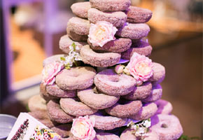Sugared donuts for weddings