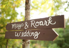Inspiration for Making Your Own Wedding Welcome Sign