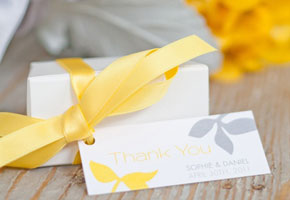 Yellow And Grey Favor Box