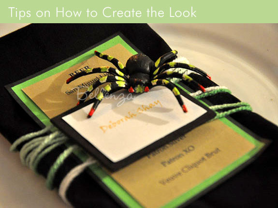 A Spider Menu Card Project: Simple and Creepy!