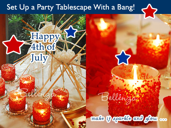 July 4th theme party table setting